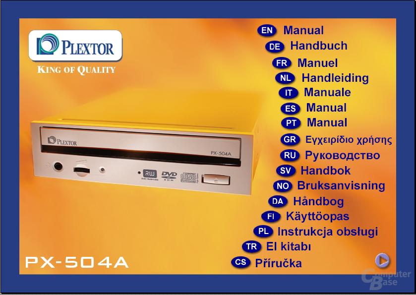 Plextor Anleitung auf CD