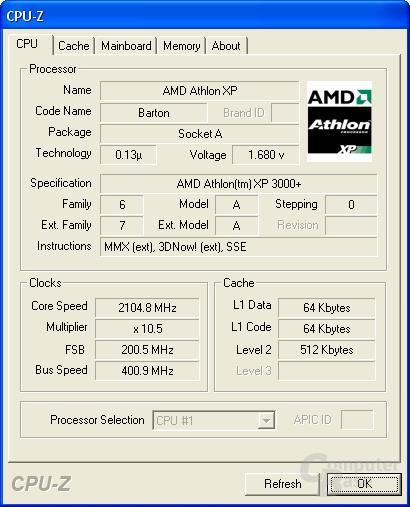 Athlon XP 3000+ FSB400 (noch nicht angekündigt)