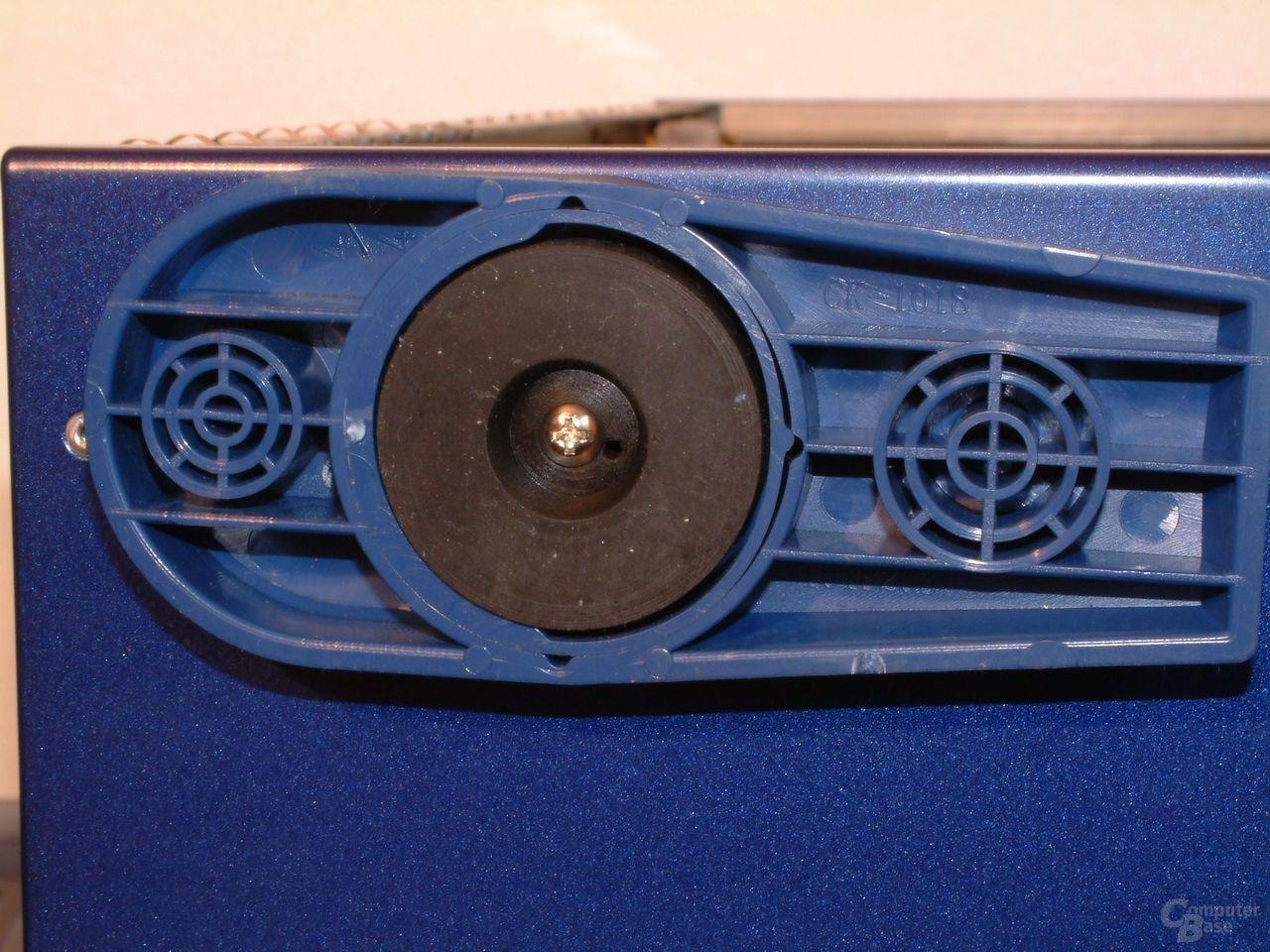 Detail Gehäusefuß