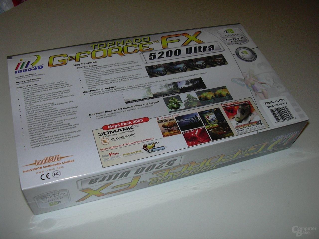 Inno3D Tornado GeForceFX FX5200ultra Packung Back
