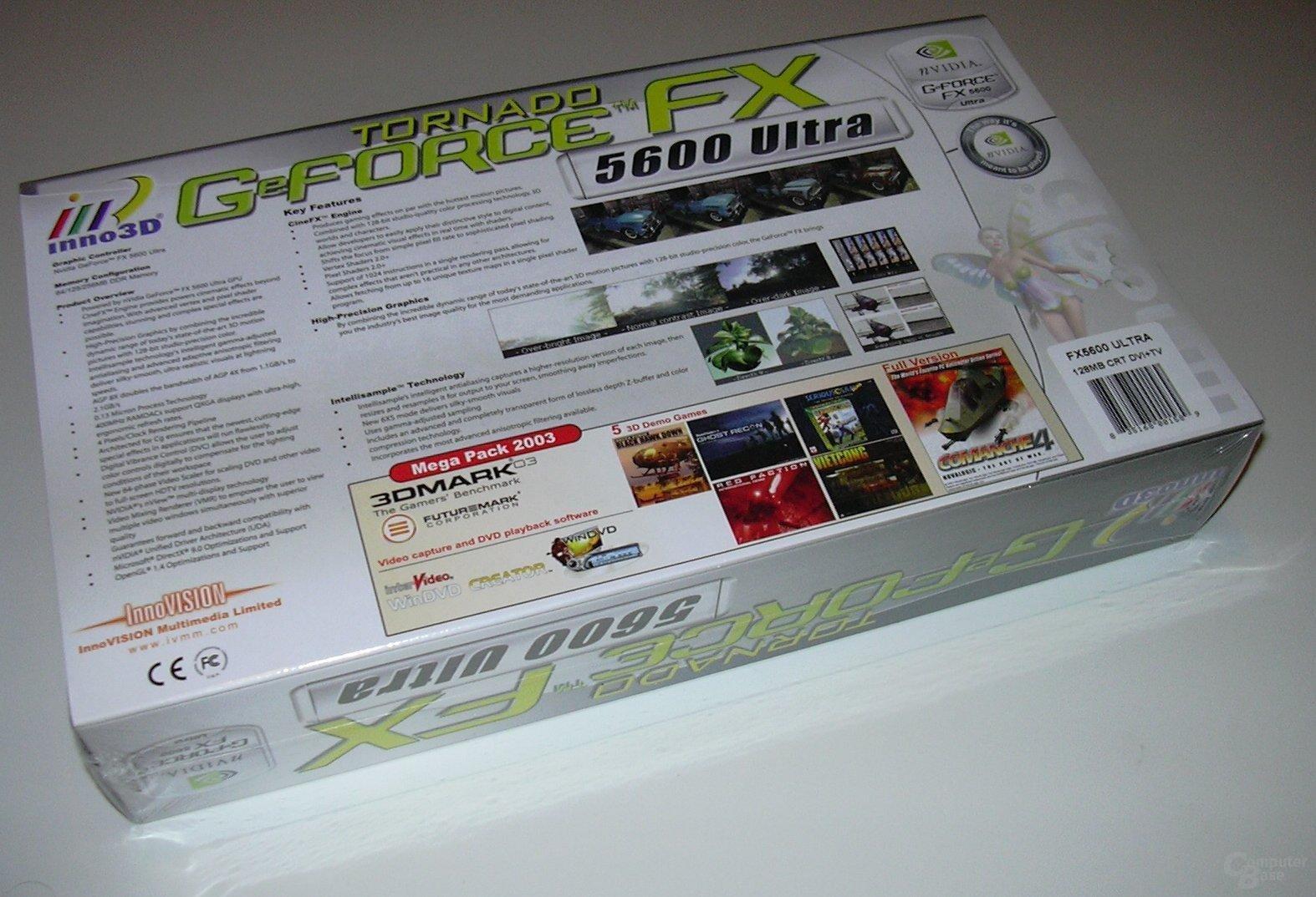 Inno3D Tornado GeForceFX FX5600ultra Packung Back