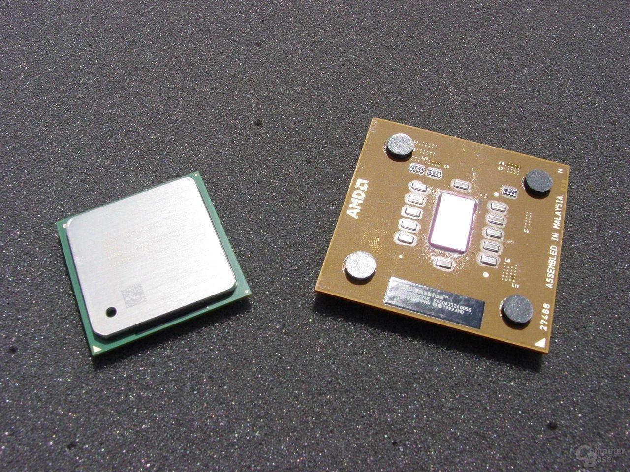 Intel Pentium 4 3,2 GHz und Athlon XP 3200+