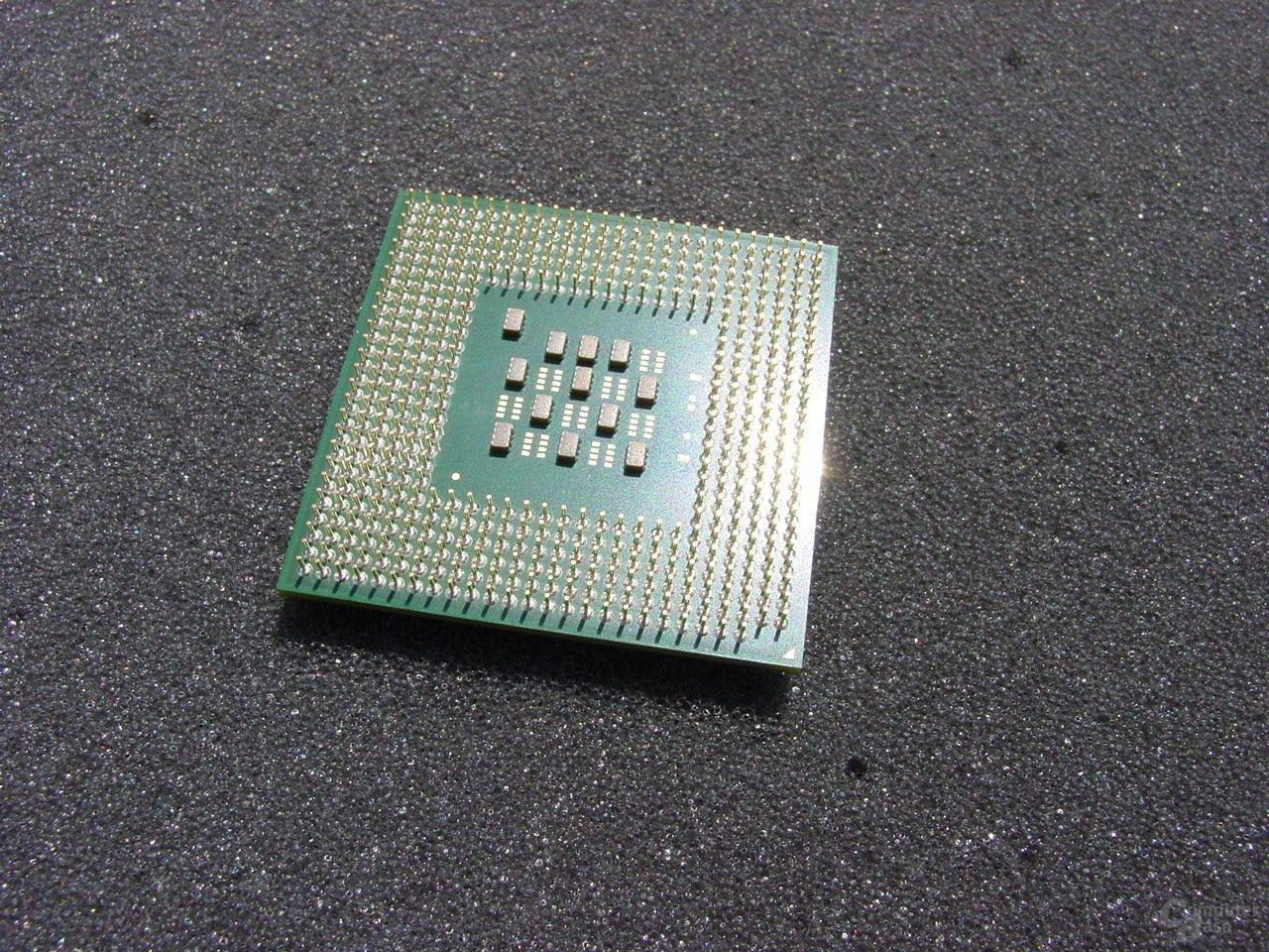 Intel Pentium 4 3,2 GHz von unten