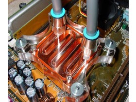 Zern - CPU Kühler montiert