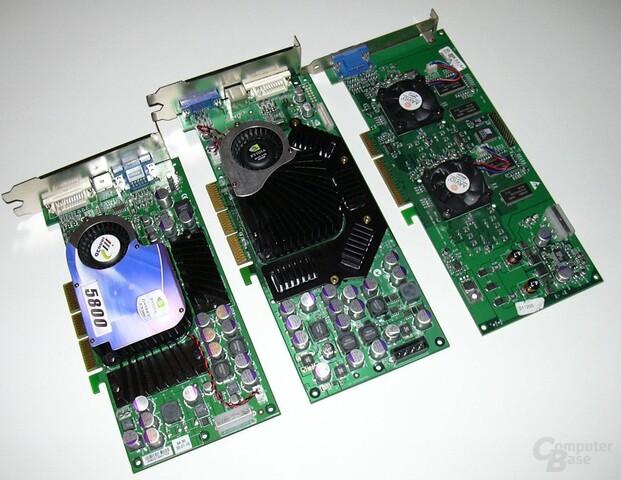 GeForce FX 5900 Ultra vs. FX 5800 vs. Voodoo 5 5500