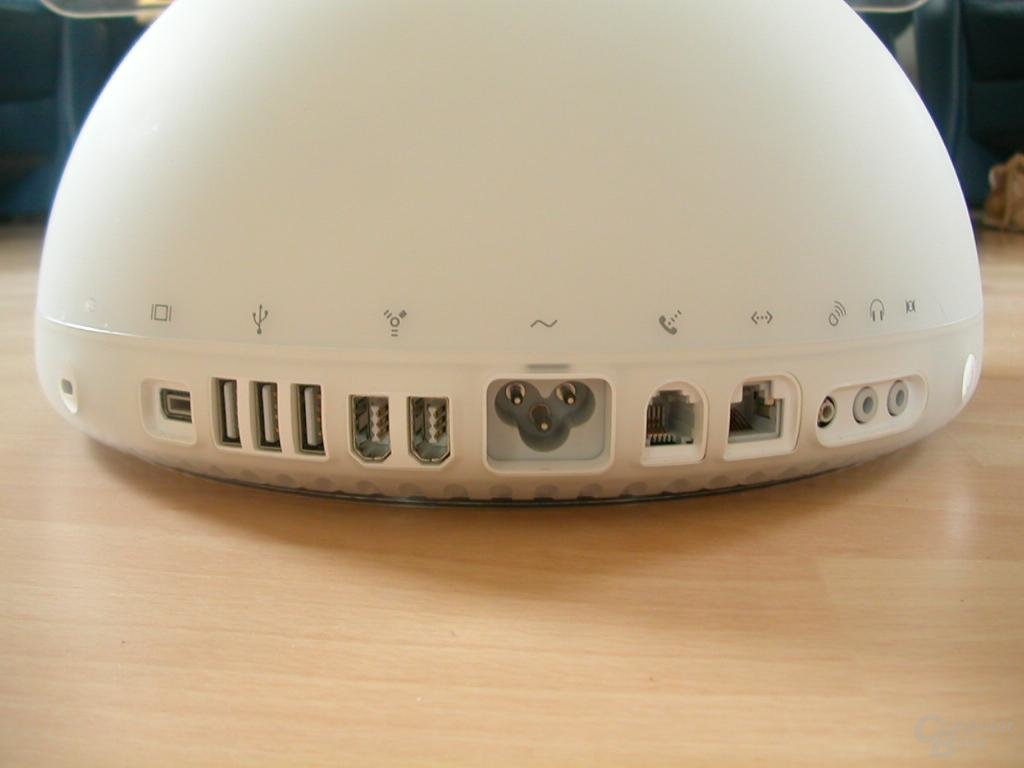 Anschlussleiste am iMac