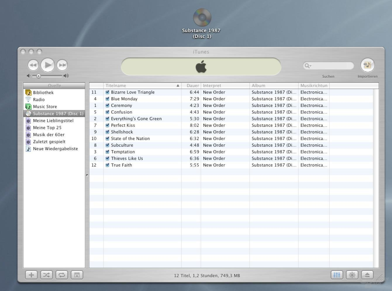 iTunes Audio CD