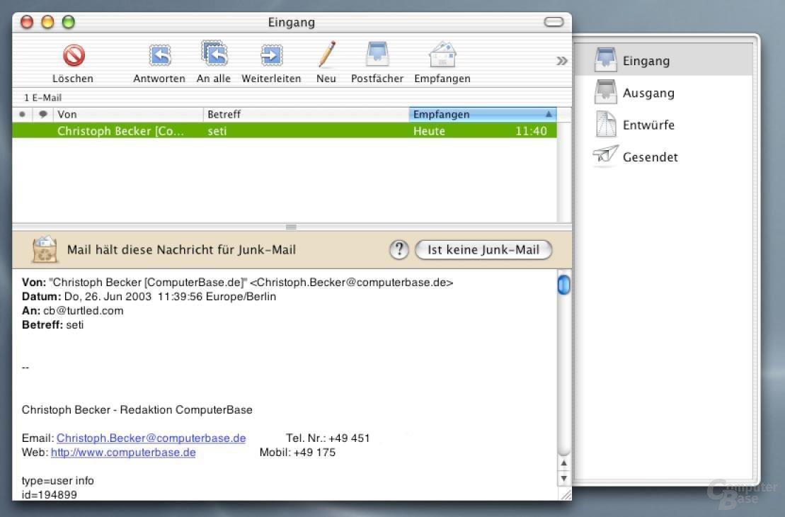 Mail - E-Mail lesen