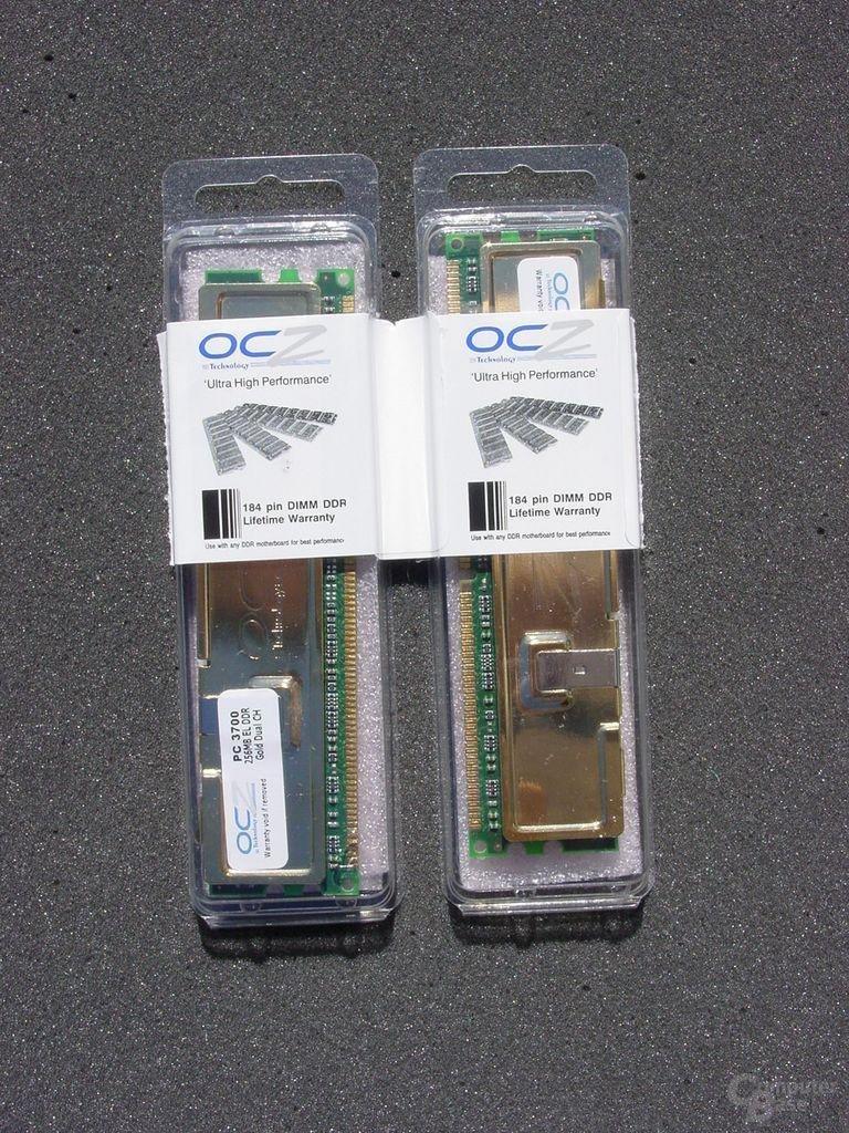 OCZ EL DDR PC3700 Dual Channel Gold