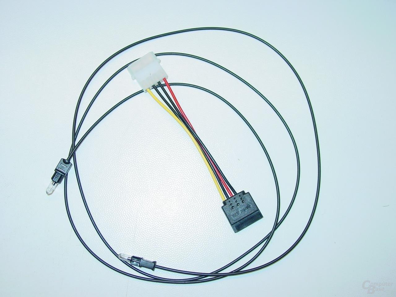 Optisches Kabel & SATA-Power-Kabel