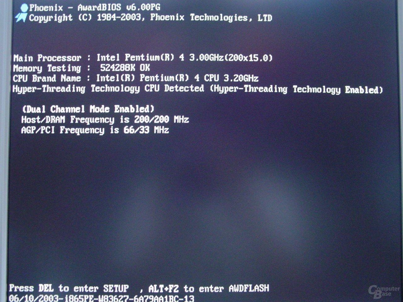 Abit IS7-G BIOS - Ohne Logo gibt es wenig zu sehen