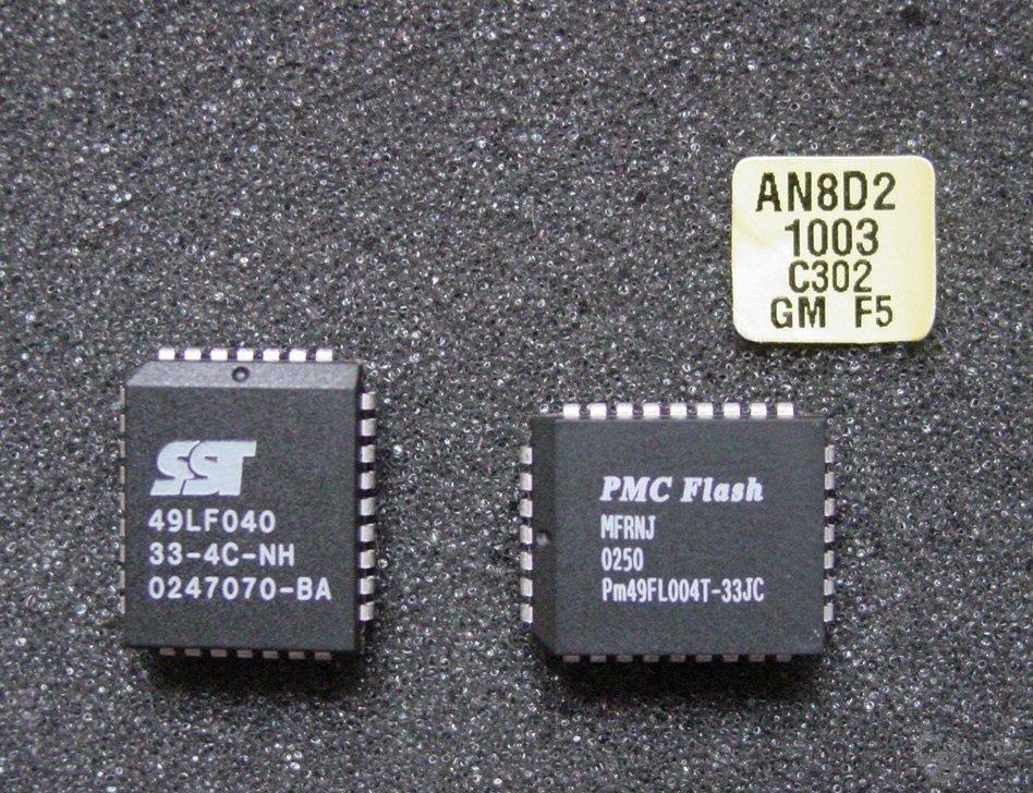 Alter gegen neuer Chip im Vergleich