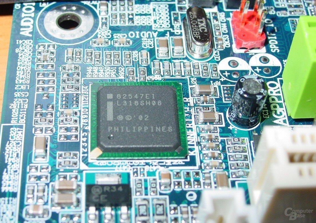 Gigabyte GA-8KNXP - Intel Gigabit CSA LAN