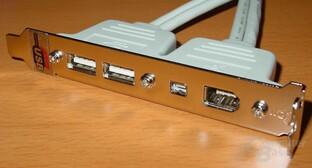 Abit IC7-G - USB-Firewire Modul