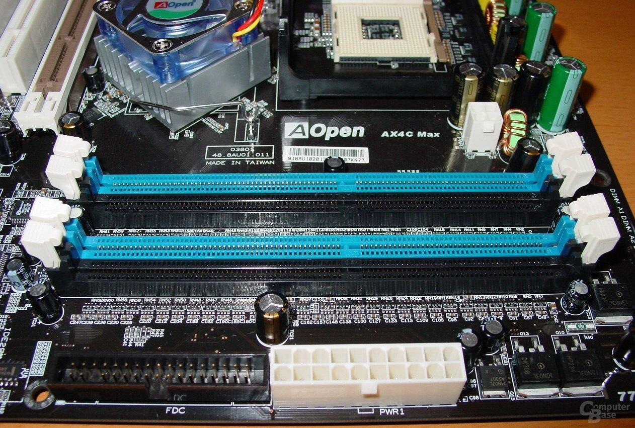 AOpen AX4C Max - RAM Steckplätze