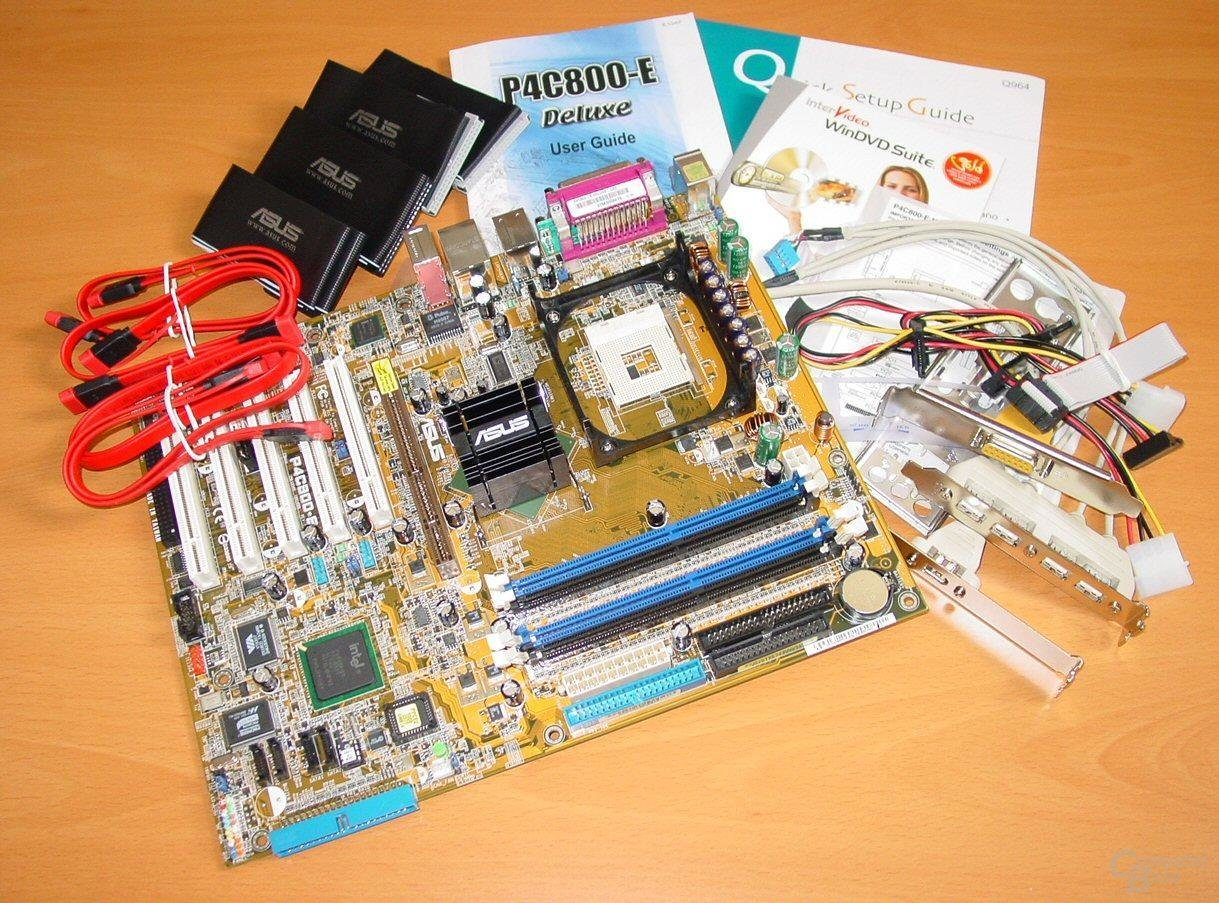 Asus P4C800-E Deluxe - Lieferumfang