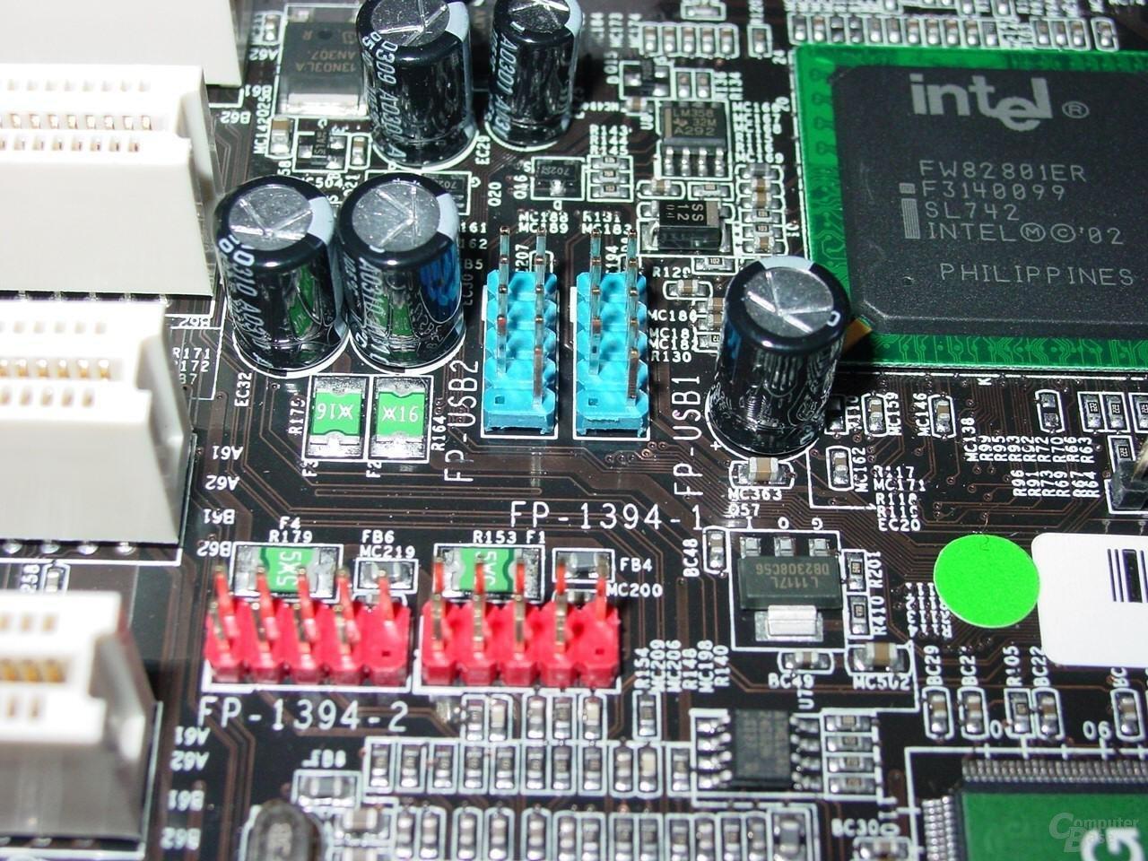 Abit IC7-G - Firewire und USB