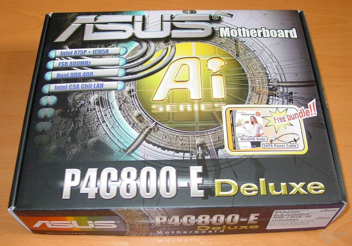 Asus P4C800-E Deluxe - Packung