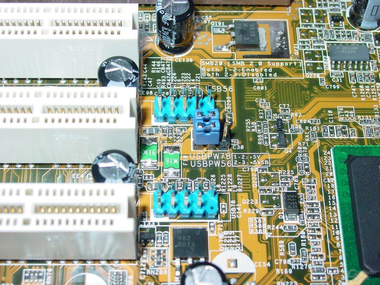 Asus P4C800-E Deluxe - USB Anschlüsse