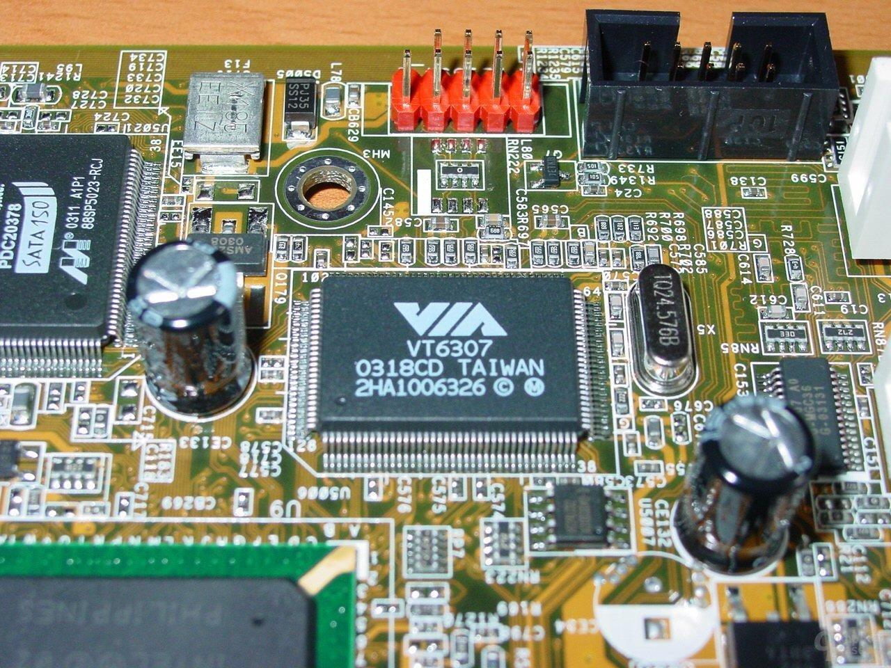 Asus P4C800-E Deluxe - VIA Firewire