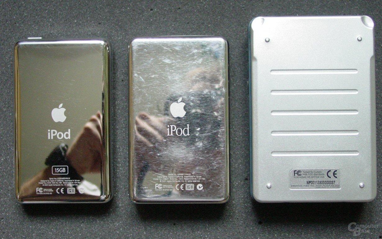 Zen vs. iPod vs. iPod