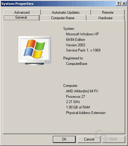 Windows XP 64 Edition Beta About