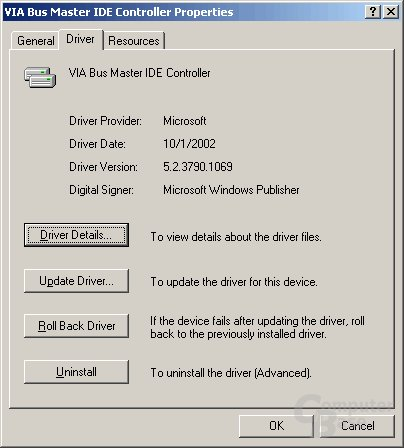 Windows XP 64 Edition Beta VIA Treiber