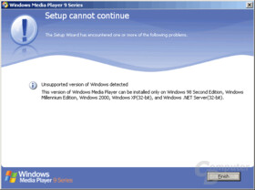 Windows XP 64bit AMD64 not supported