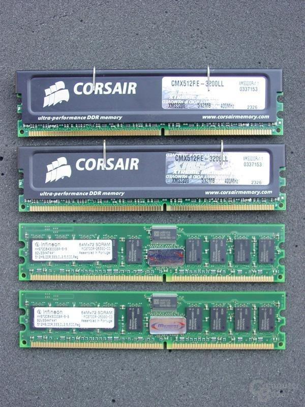 Registered Module Corsair und TakeMS