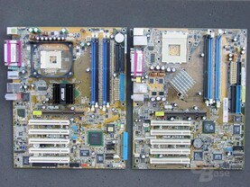 i875P und nForce 2 400 Ultra Board