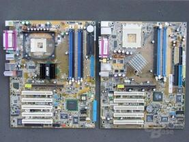 i875P und nForce 2 400 Ultra Board