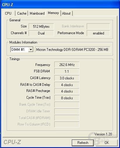262,5 MHz oder DDR525 - rekordverdächtig. Hat allerdings nicht zum stabilen Betrieb gereicht.