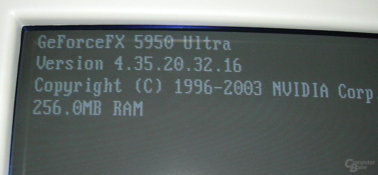 Boot-Screen mit nV35-BIOS