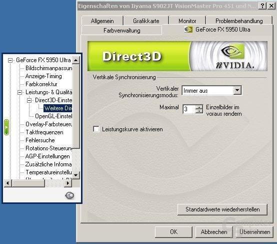 52.16 D3D Weitere Optionen