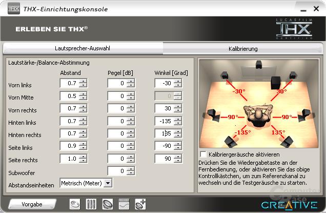 Creative-THX-Konsole-Kalibrierung