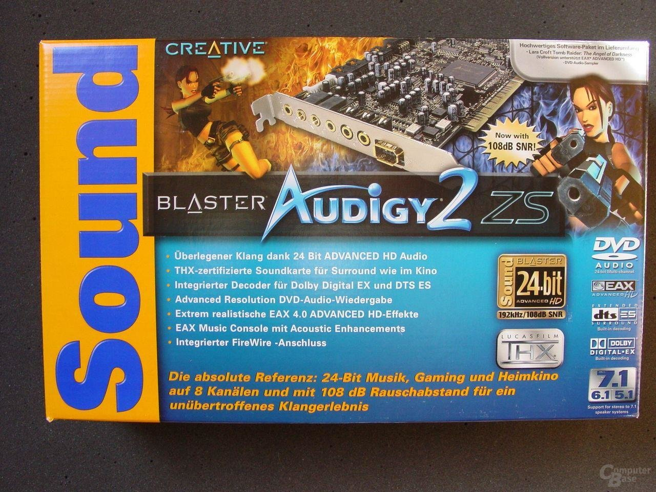 Creative Audigy 2 ZS Verpackung