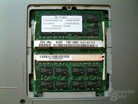 Zwei Infineon-Module in den beiden Steckplätzen