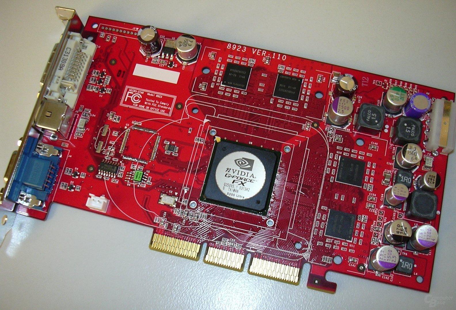 CL FX5200u Karte Front Nackt