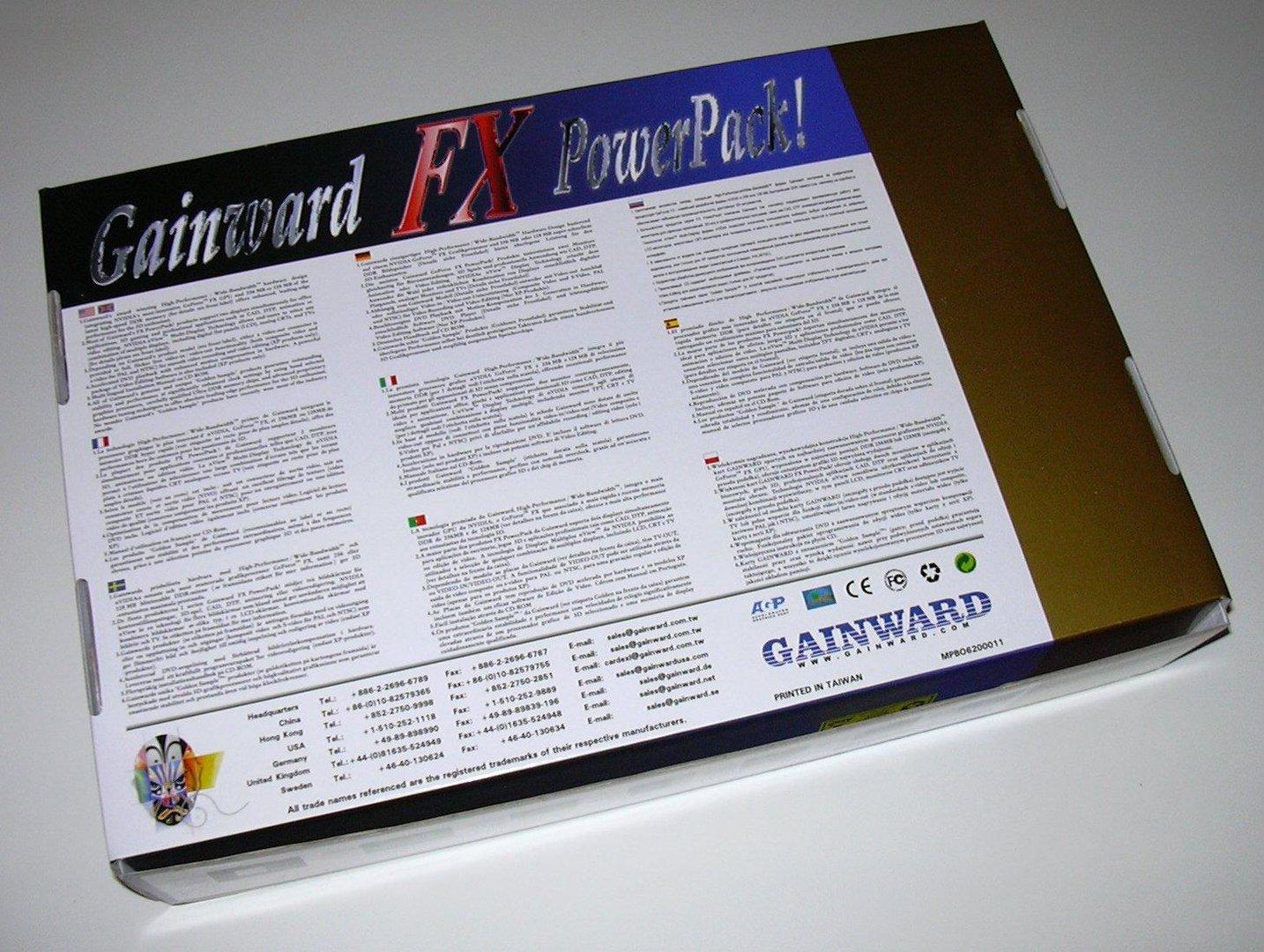 Gainward Packung Rückseite