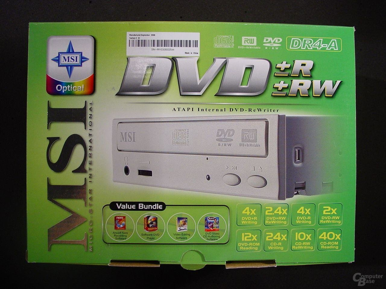 Verpackung MSI DR4-A