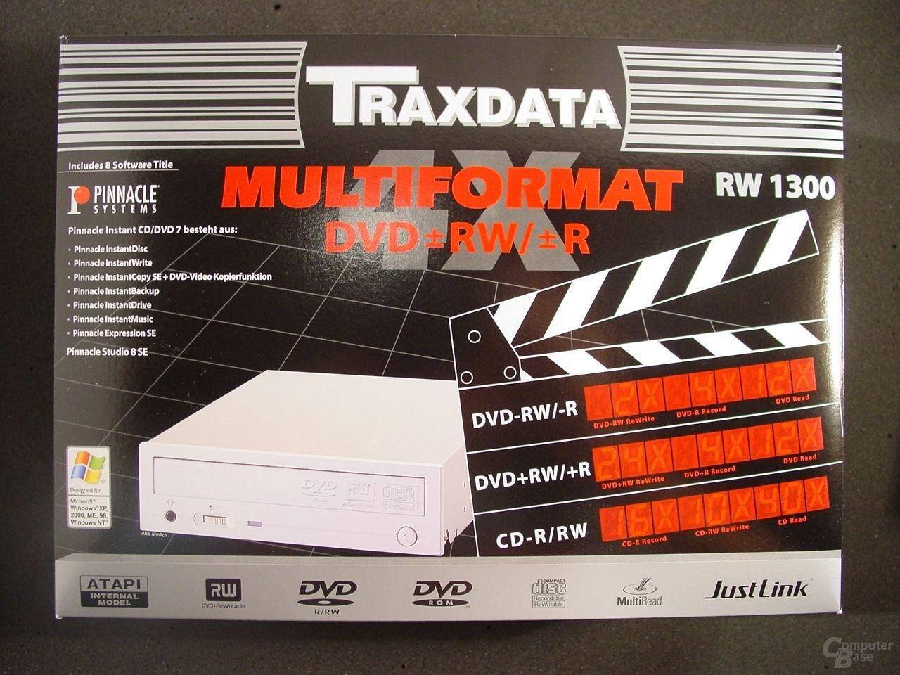 Verpackung Traxdata RW 1300
