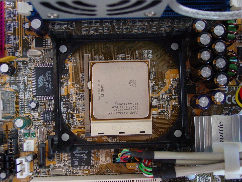 Sockel samt CPU