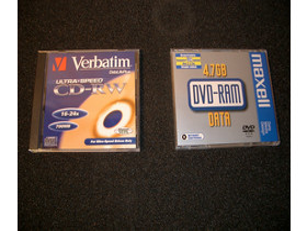 Medien DVD-RAM und CD-RW