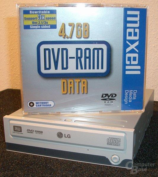 Laufwerk und DVD-RAM