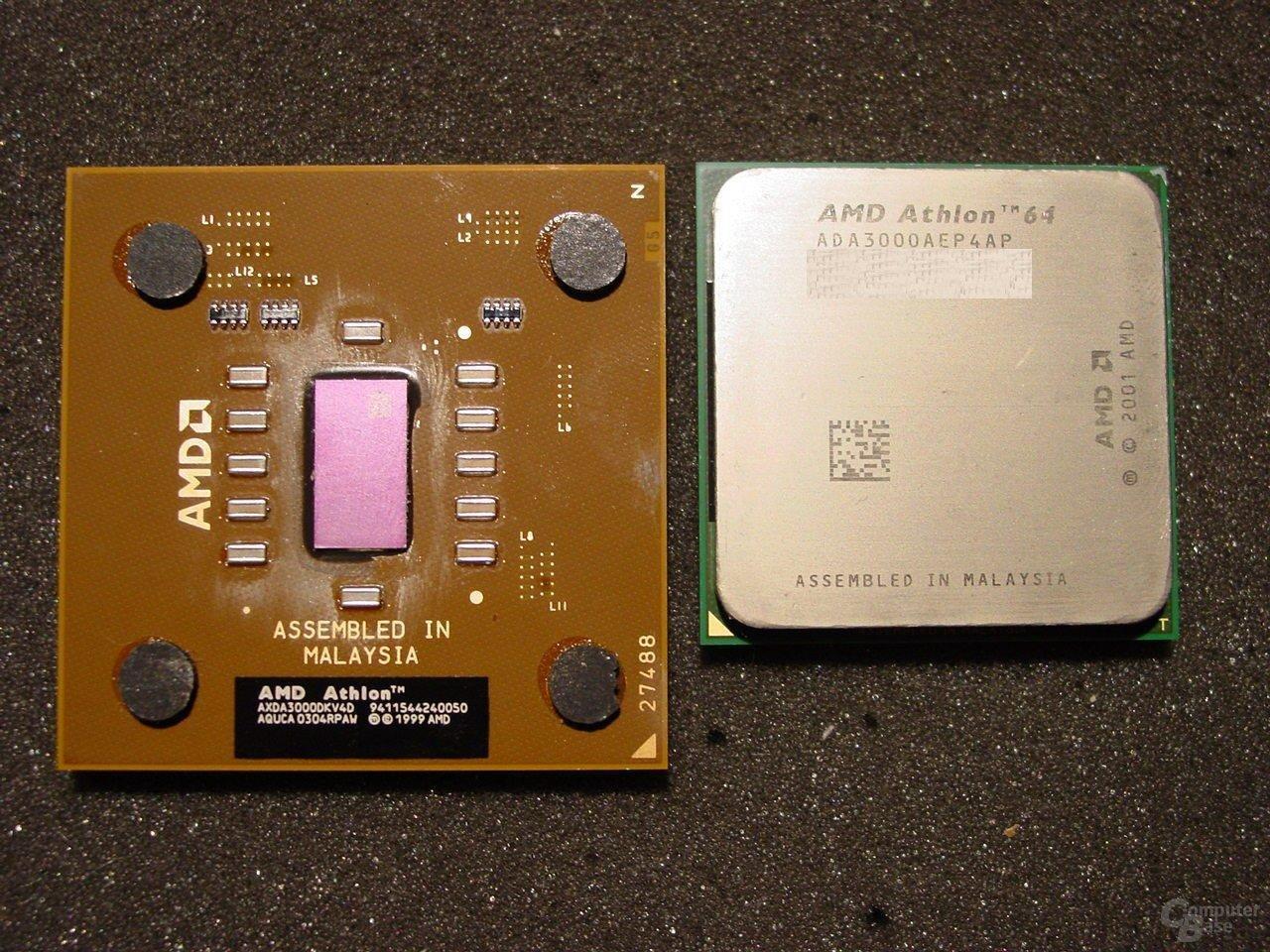 Athlon XP 3000+ und Athlon 64 3000+