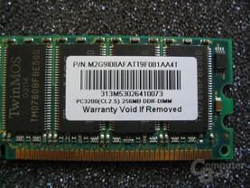TwinMOS PC3200 (CL 2.5)