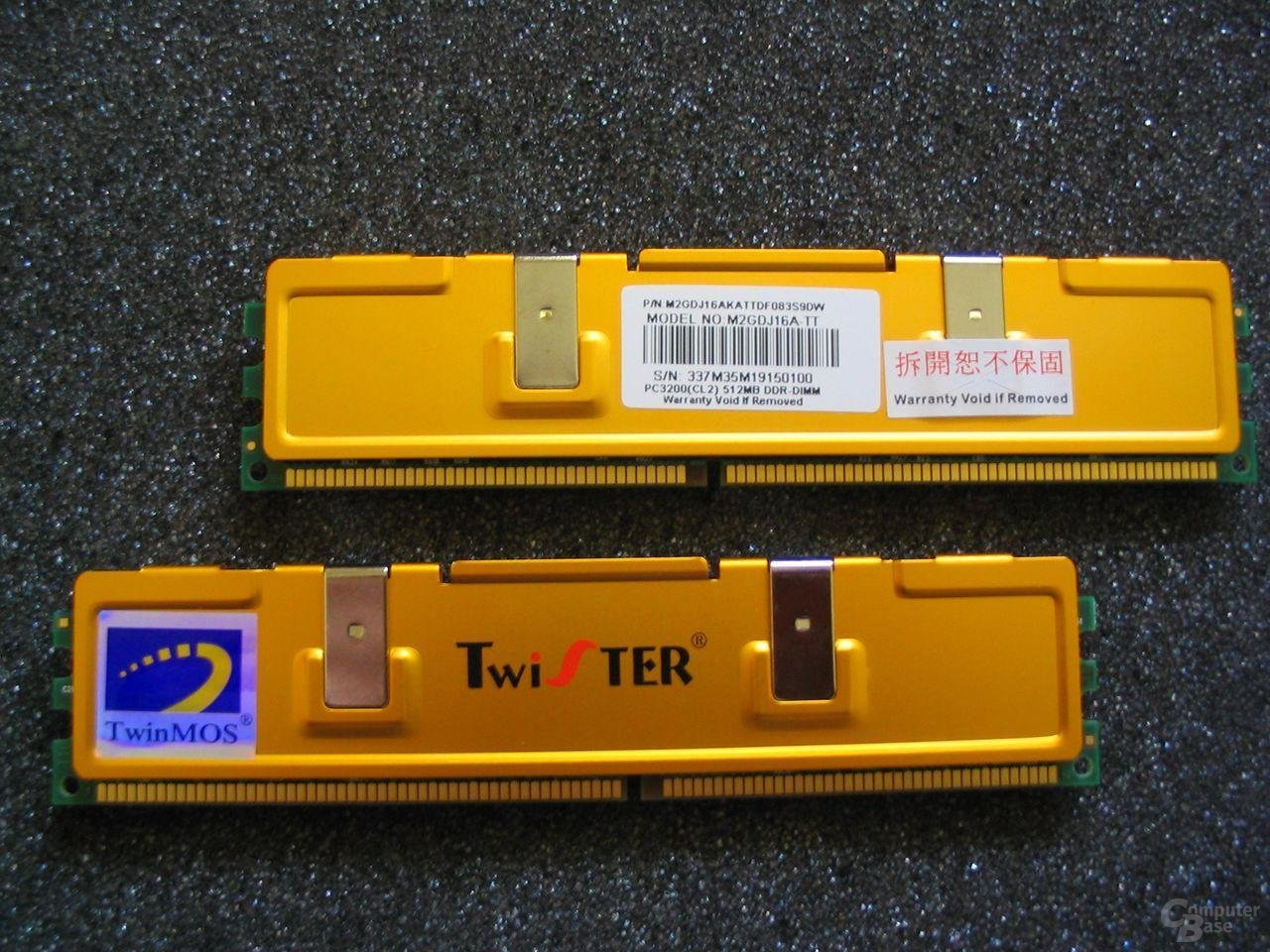 TwinMOS TwiSTER PC3200 (CL2) 512MB