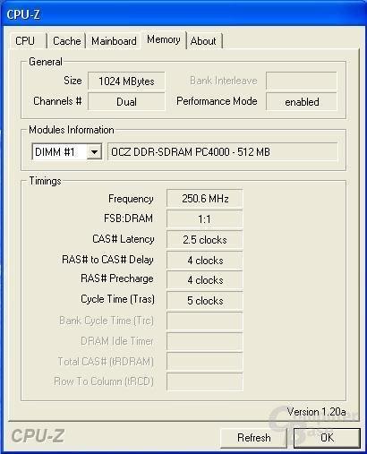DDR500 bei besten Timings