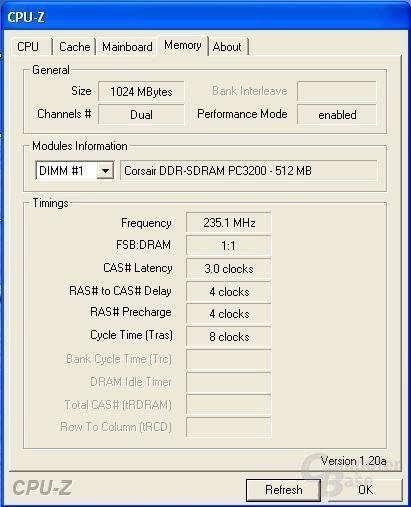 übertaktete Corsair mit LEDs - bei DDR470 ist Schluss