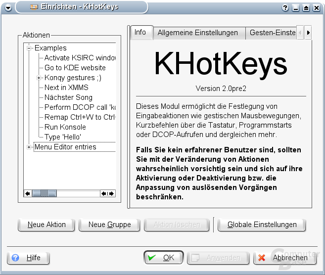 KHotkeys - Start